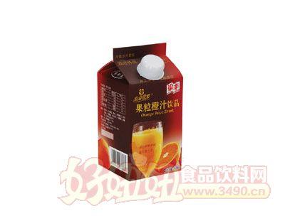 餐饮果粒橙汁饮品450ml