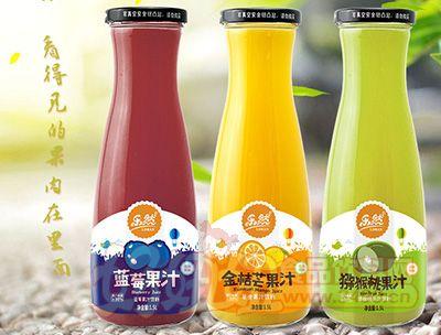 乐然蓝莓金桔猕猴谈果汁1.5l