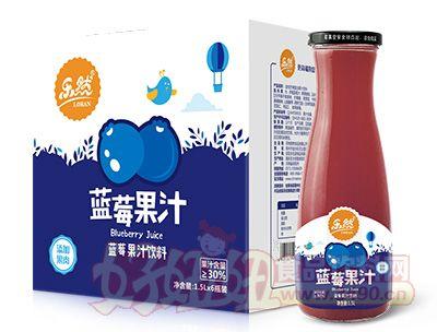 乐然蓝莓果汁1.5lx6瓶