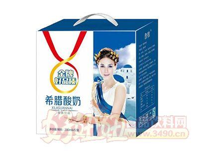 鲁牧希腊酸奶200mlx12盒