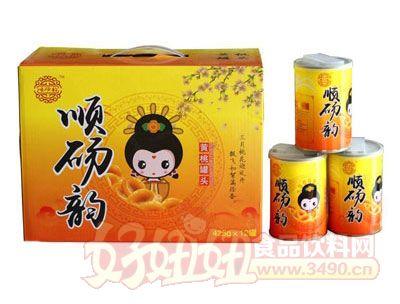 顺砀韵黄桃罐头425gx12罐