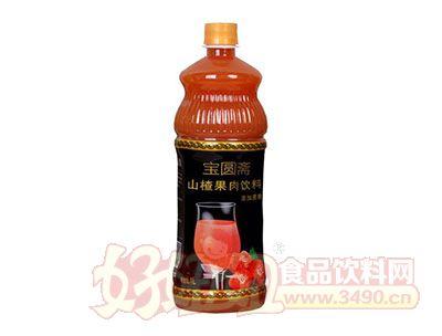 宝圆斋山楂果肉饮料1L