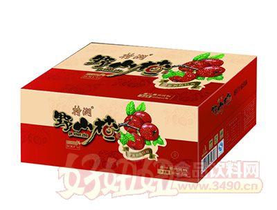 特润野山楂果汁果肉饮料380MLx15瓶装