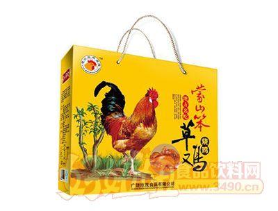 孙武府蒙山笨草鸡烧鸡黄礼盒
