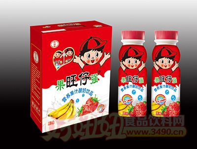 旺仔营养果汁酸奶饮品200mlx16瓶