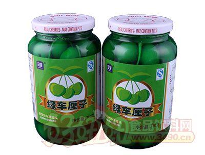冠荣绿色车厘子水果罐头