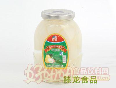 滕龙食品糖水梨球罐头