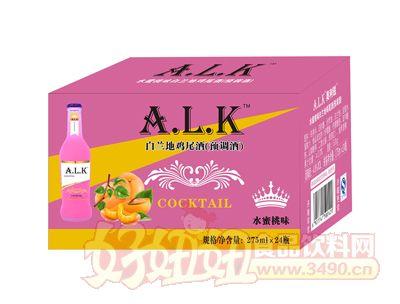 水蜜桃味白兰地鸡尾酒275ml×24瓶