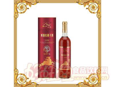 楠溪圆桶美国红提子酒(喜宴用)740ml