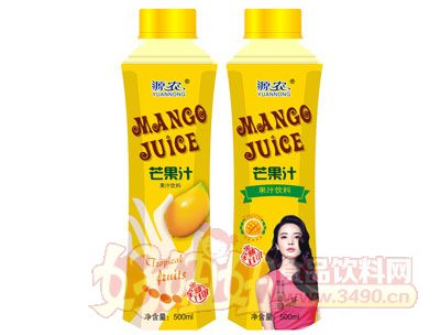 源农芒果汁500ml