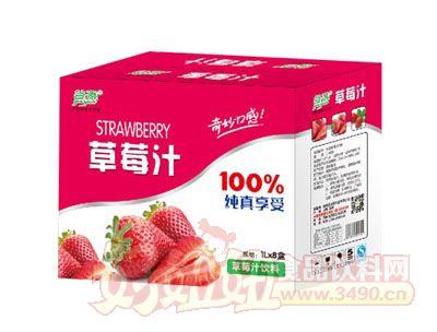 谷源草莓汁1L×8盒
