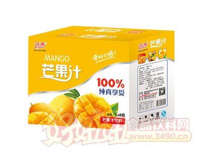 谷源芒果汁1L×8瓶