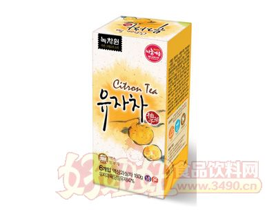 韩国绿茶园蜂蜜柚子饮品6袋装