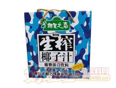 椰果之恋生榨椰子汁1.25L箱装