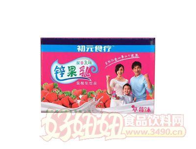 初元食疗锌果乳果酸乳饮品草莓味