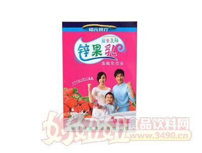 初元食疗锌果乳果酸乳草莓味饮品手提袋