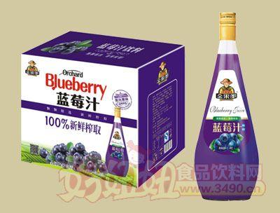 华宝100%新鲜榨取蓝莓汁