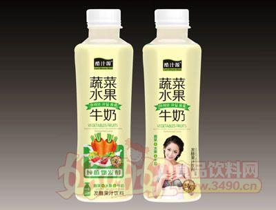 酷汁源蔬菜水果牛奶发酵果汁饮料500ml