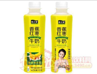 酷汁源香蕉红枣牛奶500ml