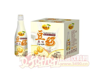 四桂塘原味豆奶1.25L×6瓶