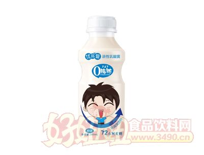 优品营0脂肪原味乳酸菌饮料350ml