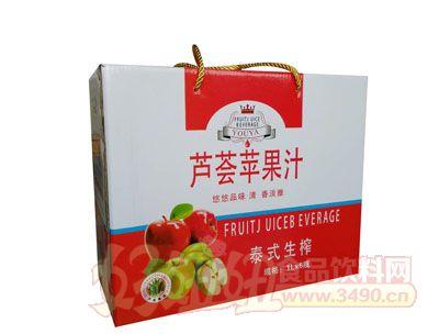 悠雅泰式生榨芦荟苹果汁1Lx6瓶