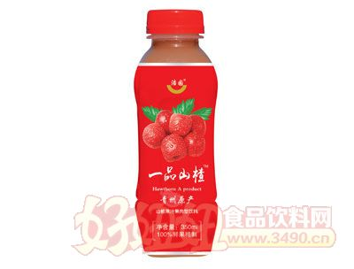 浩园山楂汁果汁果肉饮品350ml