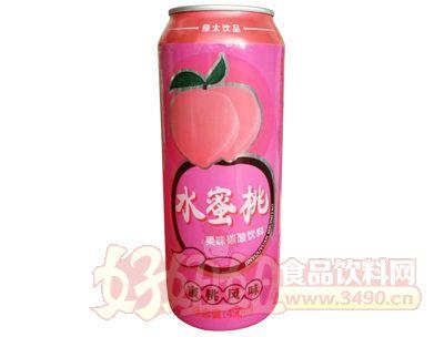 达威水蜜桃果味碳酸饮料490ml