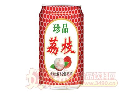 达威珍品荔枝碳酸饮料320ml