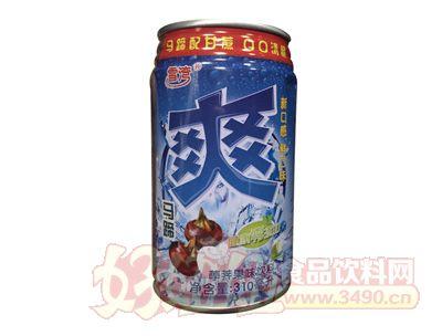 雪湾马蹄爽果味饮料310ml罐装