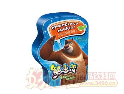 熊出没造型曲奇饼(铁盒装)---奶油味