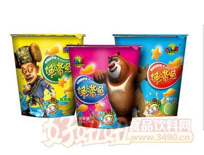 熊出没馋嘴鱼饼干草莓味香蕉味青柠味