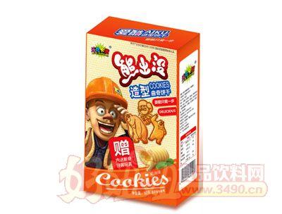 熊出没50克造型曲奇饼干-奶油味