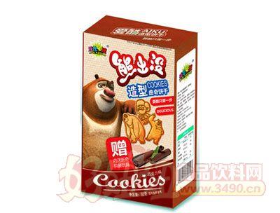 熊出没50克造型曲奇饼干巧克力味