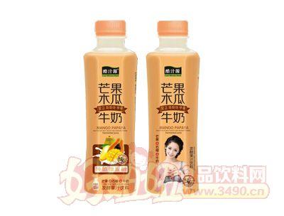 酷汁源芒果木瓜牛奶发酵果汁饮料500ml