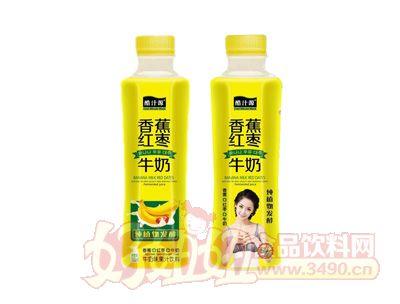 酷汁源香蕉红枣牛奶味果汁饮料500ml