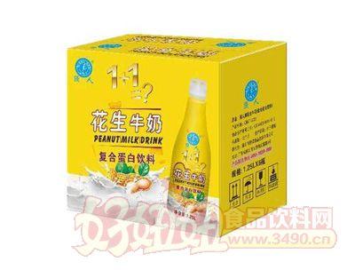 强人花生牛奶1.25Lx6瓶复合蛋白饮料
