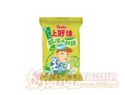 上好佳醇浓牛奶糖-绿茶口味120克