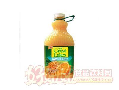 上好佳大湖100%菠萝橙汁2000ml