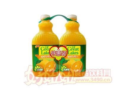 上好佳大湖100%原榨橙汁特惠装2000ml