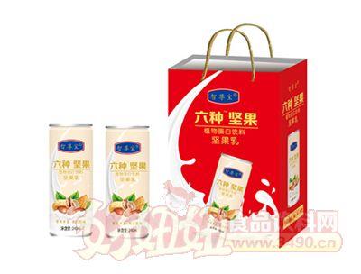 六种坚果植物蛋白饮料