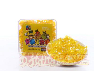 心味果园130g菠萝味卡通果汁糖