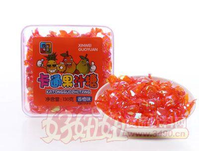 心味果园130g香橙味卡通果汁糖