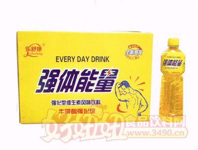 乐舒康强体能量牛磺酸强化型维生素风味饮料580ml×15瓶