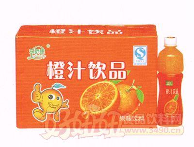 乐舒康橙汁饮品果味饮料500ml×15瓶