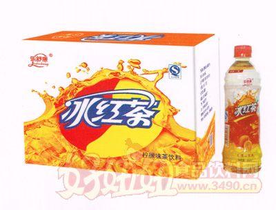 乐舒康柠檬味冰红茶饮料500ml×15瓶
