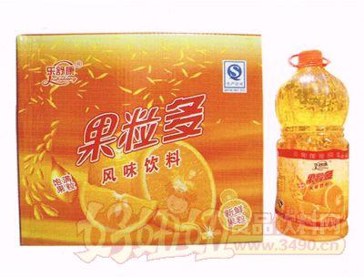 乐舒康果粒多风味饮料2.5L×6瓶