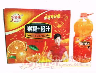乐舒康果粒+橙汁风味饮料2.5L×6瓶