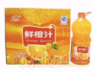乐舒康鲜橙汁风味饮料2.5L×6瓶