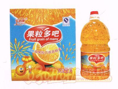 乐舒康果粒多吧风味饮料4.5L×2瓶
